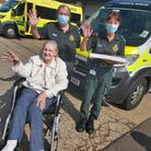 Orchard House Care Home in Wisbech marked Emergency Services Day by visiting ambulance crews.