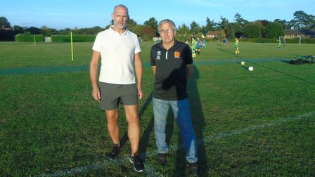 HethersettAthletic'smen's football Saturday team manager Michael Lemmon (right) and club chairman Neal Luther (left).