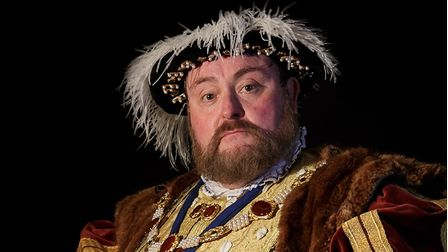 Actor Jack Abbot as King Henry VIII.