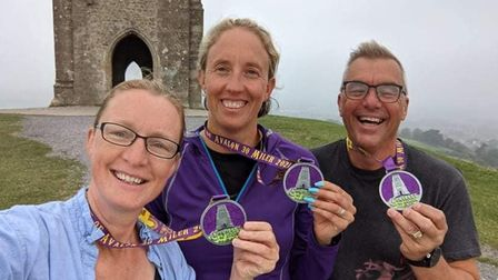 Karen Bumby (centre) took on the Conquest of Avalon 30-mile ultra