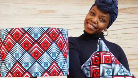 Mulenga Loryman with some of her creations