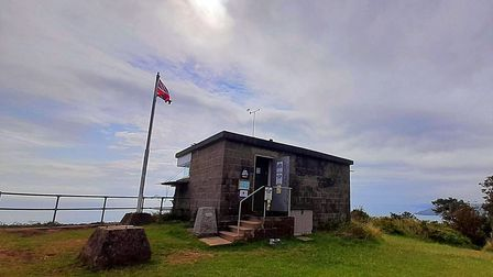 The coastguard lookout post at Froward Point