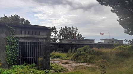 The Second World War battery at Froward Point built in 1942