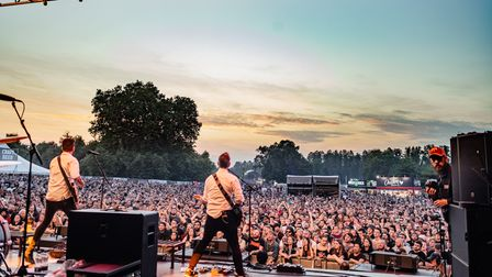 Frank Turner on the Punk in Drublic stage at Slam Dunk Festival South 2021 in Hatfield Park.