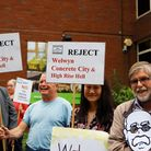 WGC Protest - Reject Welwyn Concrete City and High Rise Hell.Picture: Karyn Haddon