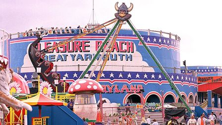 The roller coaster at the Pleasure Beach in Great Yarmouth