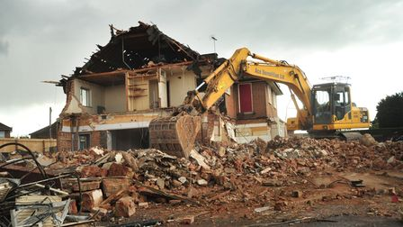 The Thomas Eldred public house in Ipswich is being demolished.ES 20.4.12
