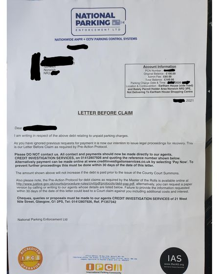 """The man said he would not be responding to any of the """"threatening letters"""" because he didn't think they were reasonable"""