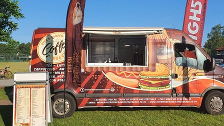 Mark Dyer's new burger van is now fully branded and out to events after a devastating fire destroyed his old van.