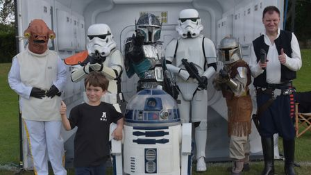 The final Mile Cross Festival at Sloughbottom Park.Gus Wallace-Goodall with the Star Wars crewByli