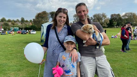 Jo Parker Sessions with her husband Shaun and their five-year-old son Toby at the 2021 Mile Cross Festival