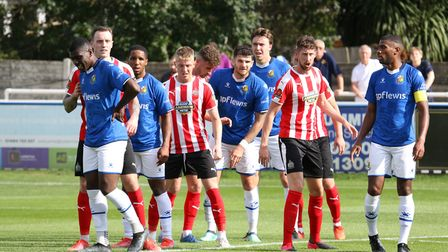 Wealdstone in National League action against King's Lynn Town
