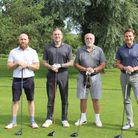 The winning Giggs & Co team at the St Neots charity golf day.