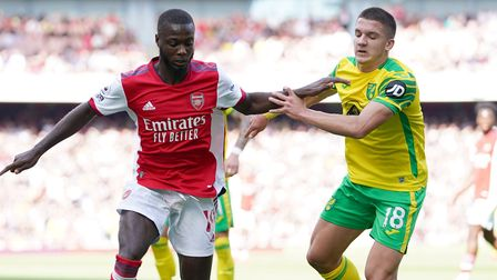 Christos Tzolis made his Premier League debut for Norwich City at Arsenal