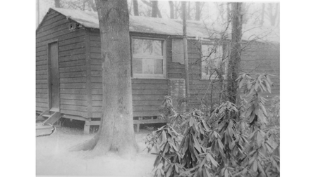 A hut in woodland near where the council offices now stand where the first non-conformist service was held in May 1921.