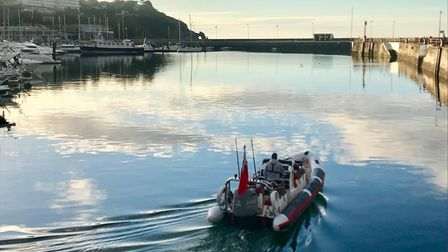 Still waters ofTorquay's outer harbour