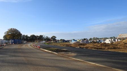 New homes being build in the north of Hethersett.