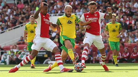 No way through for Teemu Pukki in Norwich City's Premier League 1-0 defeat at Arsenal