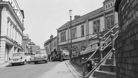 NORWICHWESTWICK STREET LOOKING TOWARDS ST. BENEDICTS AND CHARING CROSS.DATE 10TH JULY 1962