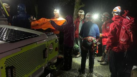 The volunteers who helped rescue Alexander Catt, from Norwich,from a Welsh gorge on September 8, 2021