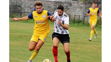 Syd Camper during Clevedon Town's match at Millbrook.