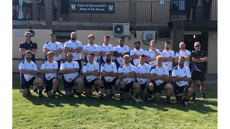 All smiles for Nailsea & Backwell RFC as they pose for the camera.