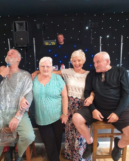 Members of the Montagu Club Peter Faulkner, Pat Gorham, Maggie Bartlett and Liam Kennedy.