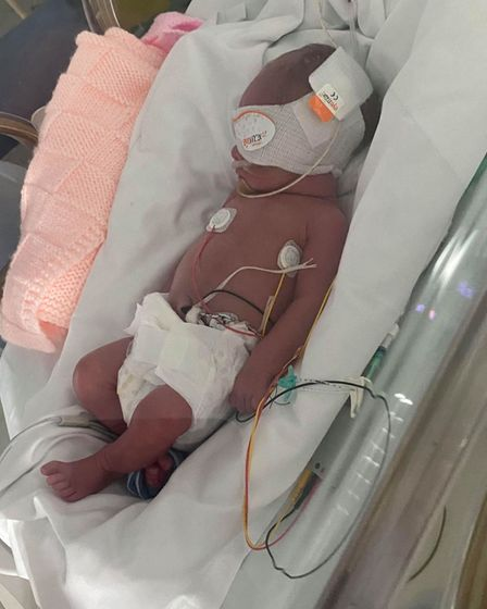 Laura and Dan's baby was in the NICU and Norfolk and Norwich university hospital for 5 weeks.