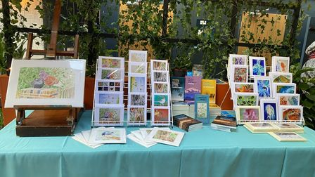 Some of the items on display from Share the World's Resources