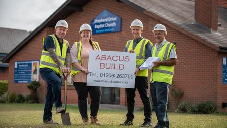 Building work on an annex is set to commence on the Shepherd Drive Baptist Church. L-R Simon Fitzpat