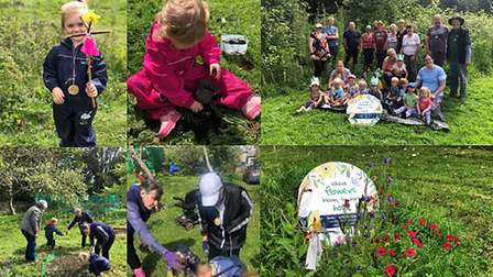 The group at Orchard Forest School worked hard on their Pollinator Patch – and what a result!