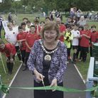 Cllr Alison Cornelius at the Childs Hill Park picnic grove opening