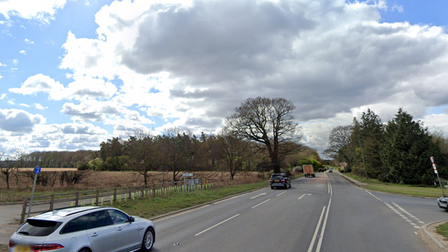 The junction of Crostwick Lane and North Walsham Road in Spixworth