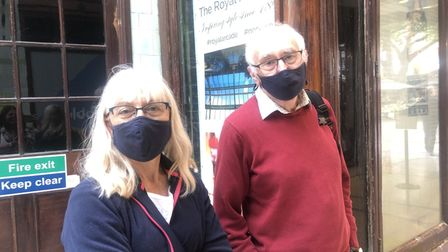 Doreen and Steven Marr, who were cutting through the Royal Arcade