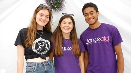 Members of the danceaid team at Party in the Paddock 2021