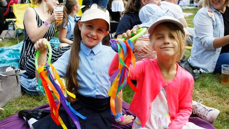 Harper and Pippa, seven, enjoy Party in the Paddock 2021