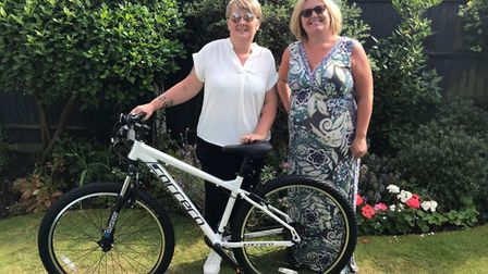 The new bike is handed over