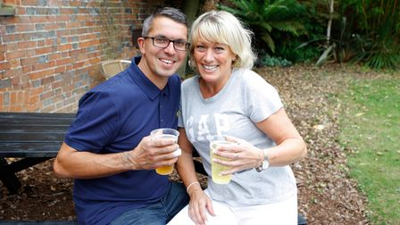 Balstock 2021 - Gary Jackson and Sarah Mitchell enjoy the day out.Picture: Karyn Haddon