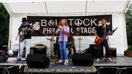 Balstock 2021 - Waisted Rhymes entertain the crowds.Picture: Karyn Haddon