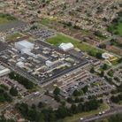 An aerial view of the James Paget University Hospital in Gorleston.