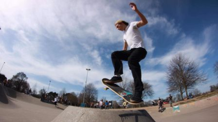 Alex Williams, 21, was head of the skate society at UEA before graduating