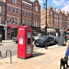 One of the phone boxes up for sale in Hampstead High Street