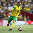 Max Aarons of Norwich in action during the Premier League match at the Emirates Stadium, LondonP