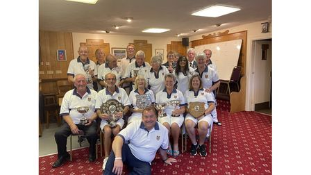 All smiles for membersof Yatton Bowling Club as they pose for the camera.