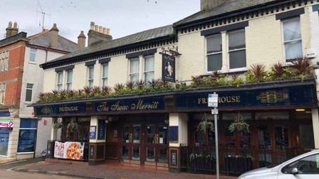 The Isaac Merritt pub in Paignton, up for auction with Pugh
