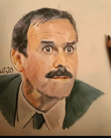 Neil Gaul's drawing of John Cleese.