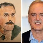 The picture of John Cleese byNeil Gaul from Norwich and the man himself.
