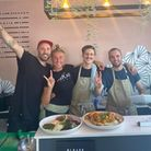 Brunch club has launched at Connaught Kitchen in Norwich, pictured is Tom Hurrell,Emese Raczki, Brad Trent and Rory.