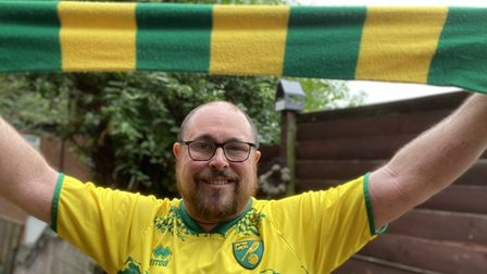 Evening News reporter David Hannant will have his scarf at Carrow Road on Saturday - will you?