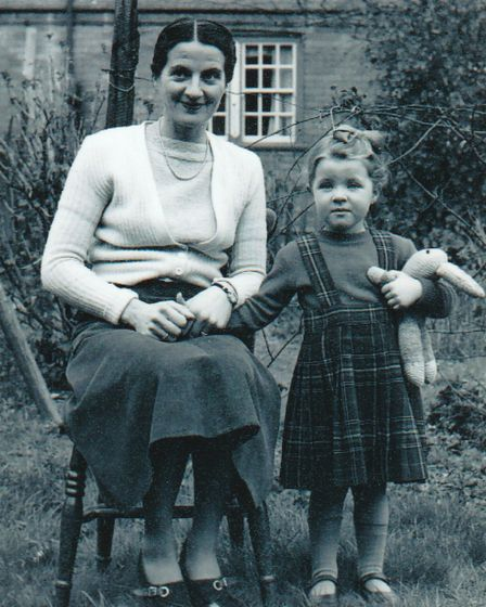 Diane with her mother